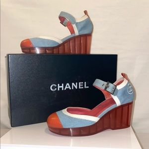 Authentic Chanel Wedges